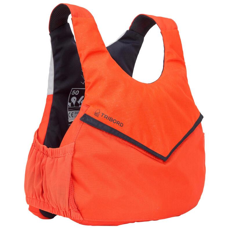 Dinghy sailing buoyancy aid vest 500 BA 50 newtons - orange