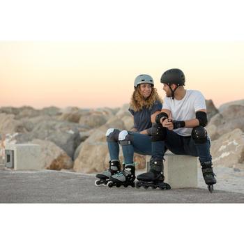 Protecciones Patinaje Patiente Skateboard Oxelo FIT500 Adulto Set3 Blanco