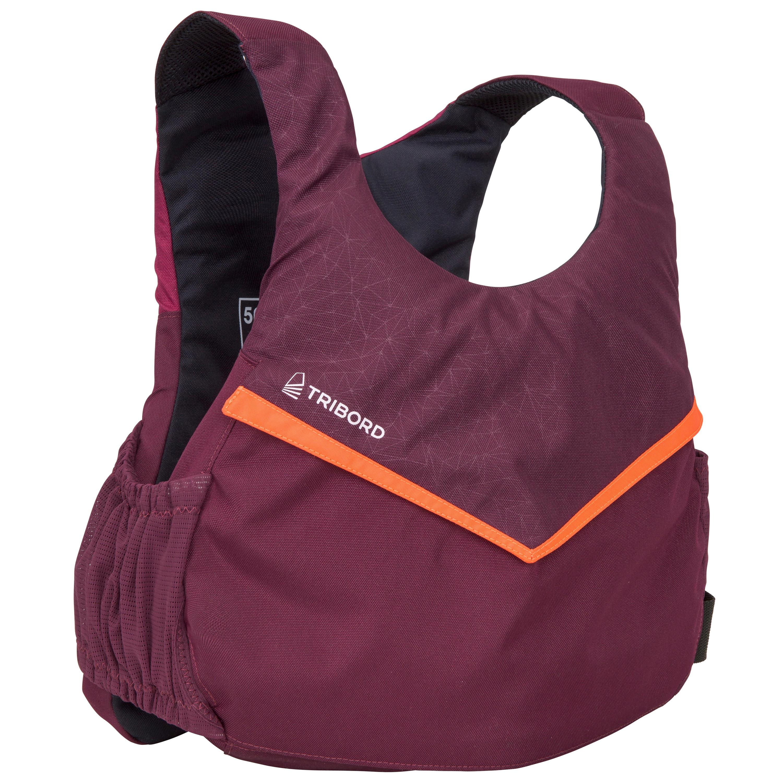 Auftriebsweste Dinghy 500 50N violett | Bekleidung > Westen | Violett - Rot - Orange | Tribord