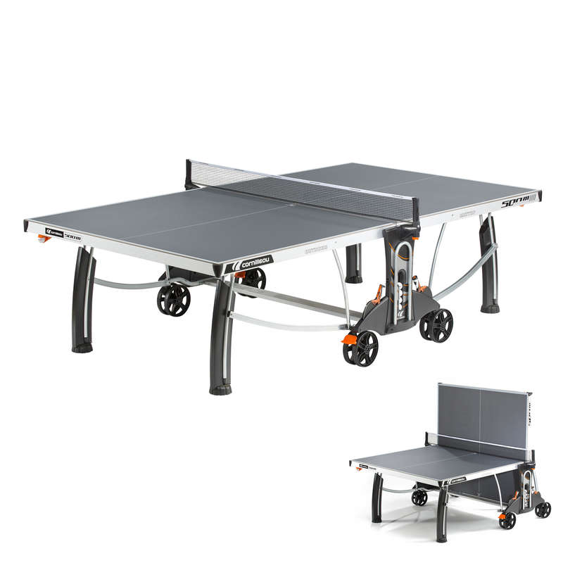 FREE TABLES Table Tennis - 500 M Crossover Table - Grey CORNILLEAU - Table Tennis Tables