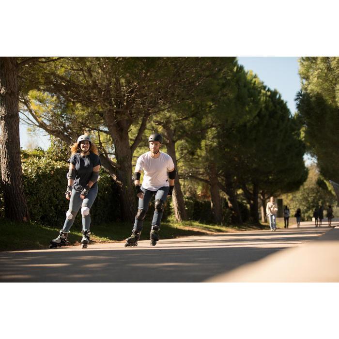 Protecciones Patinaje Patiente Skateboard Oxelo FIT500 Adulto Set3 Negro