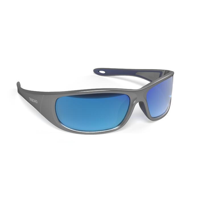 Sonnenbrille Sportbrille Segeln 900 schwimmfähig polarisierend Kategorie 3 grau