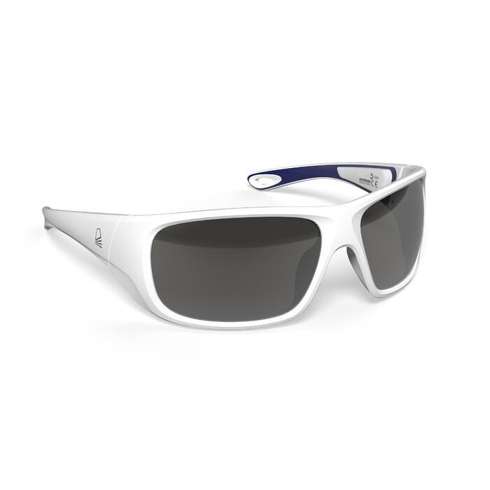 Sonnenbrille Segeln 500 polarisierend Erwachsene Kat.3 weiß