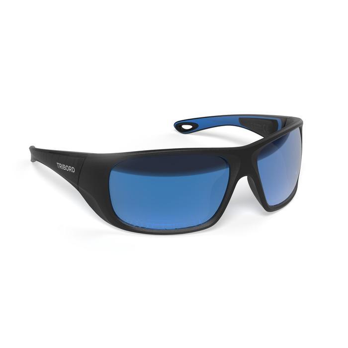 Sonnenbrille Segeln 500 polarisierend Erwachsene Kat.3 schwarz
