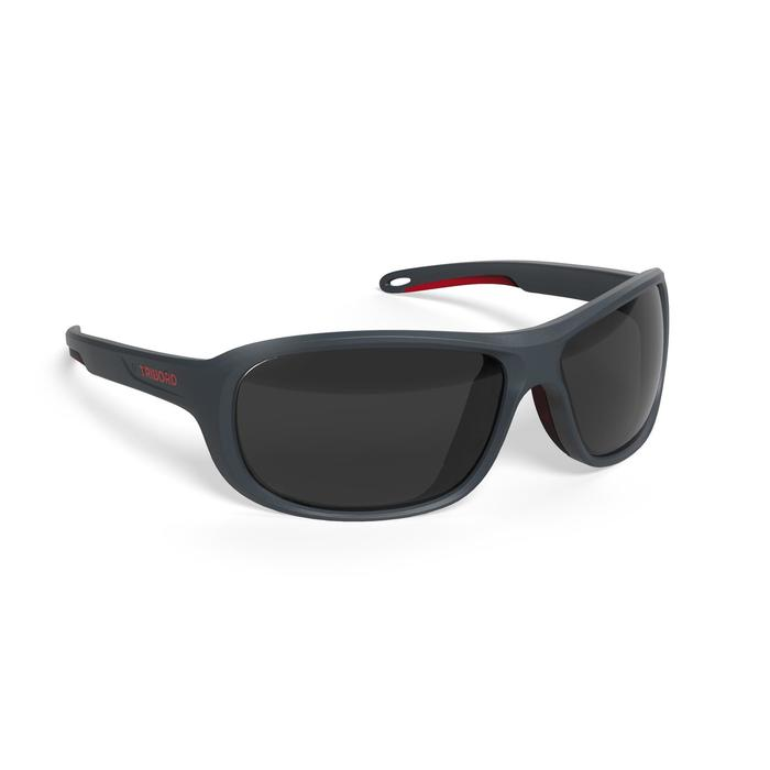 Watersportbril Race 100 voor volwassenen blauw, polariserend categorie 3
