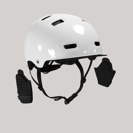 """Miesto dviratininko dubens formos šalmas """"500"""", baltas"""