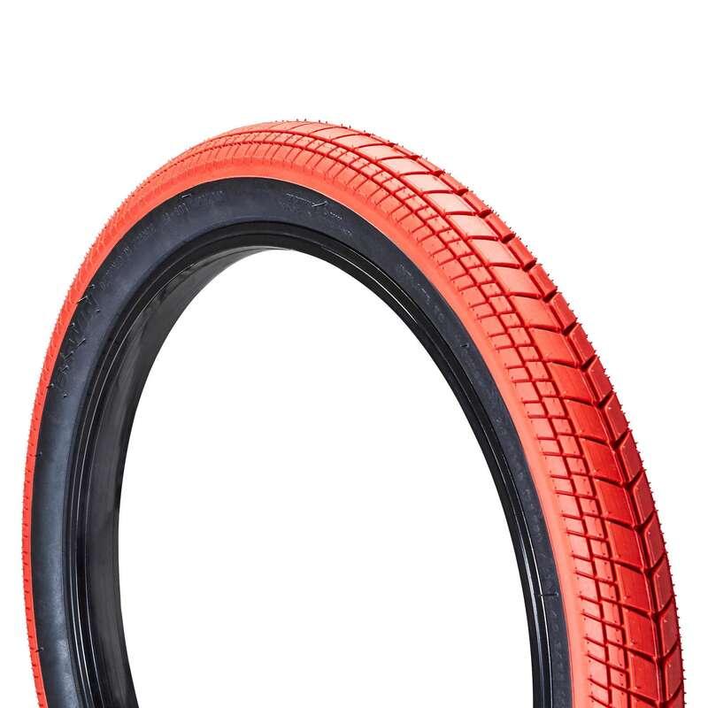 Reifen Kinderräder Radsport - BMX Reifen Street 20 Zoll rot BTWIN - Fahrräder