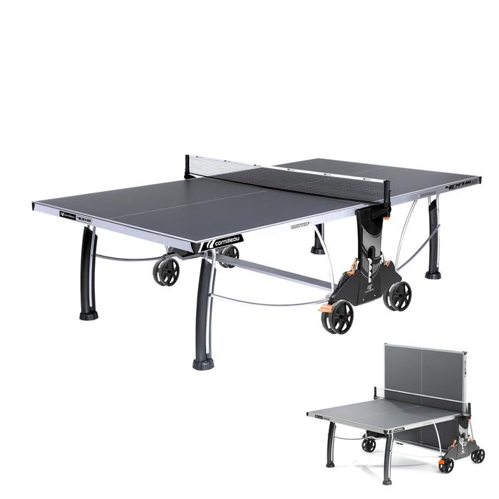 TABLE DE TENNIS DE TABLE FREE CROSSOVER 400S OUTDOOR GRISE