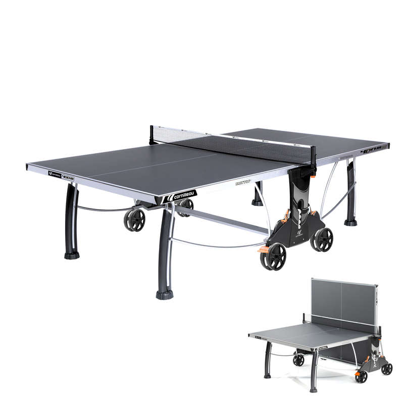 FREE TABLES Table Tennis - 400S Crossover Table - Grey CORNILLEAU - Table Tennis Tables