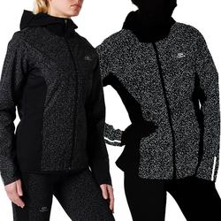 Lauf-Regenjacke Run Rain Night Damen schwarz