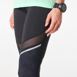 Laufhose 3/4 Tights Kiprun Support Damen schwarz