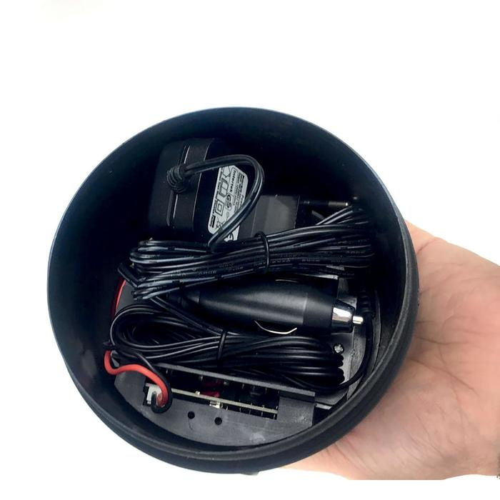 Linterna recargable + mando a distancia carpfishing negra