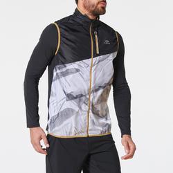 mouwloos jasje voor trail wit print heren