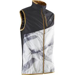 Men's sleeveless trail jacket - white/graph