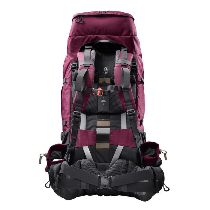 Mochila de Montaña y Trekking Forclaz Trek900 Symbium 70+10 Litros Mujer Burdeos