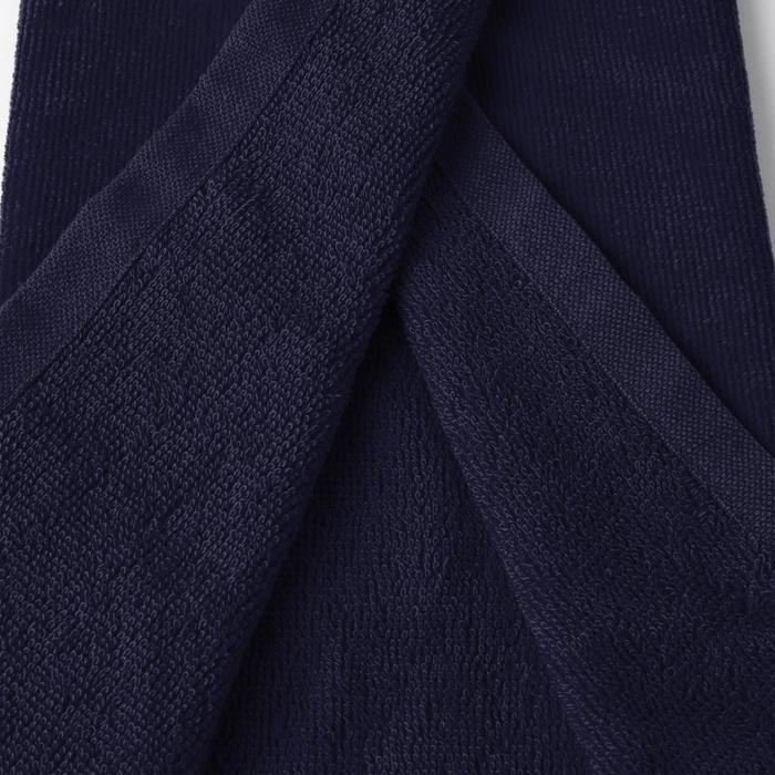 高爾夫三折毛巾-藍色