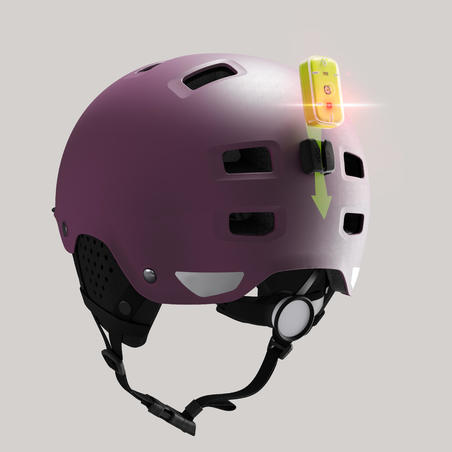 500 City Cycling Bowl Helmet - Plum