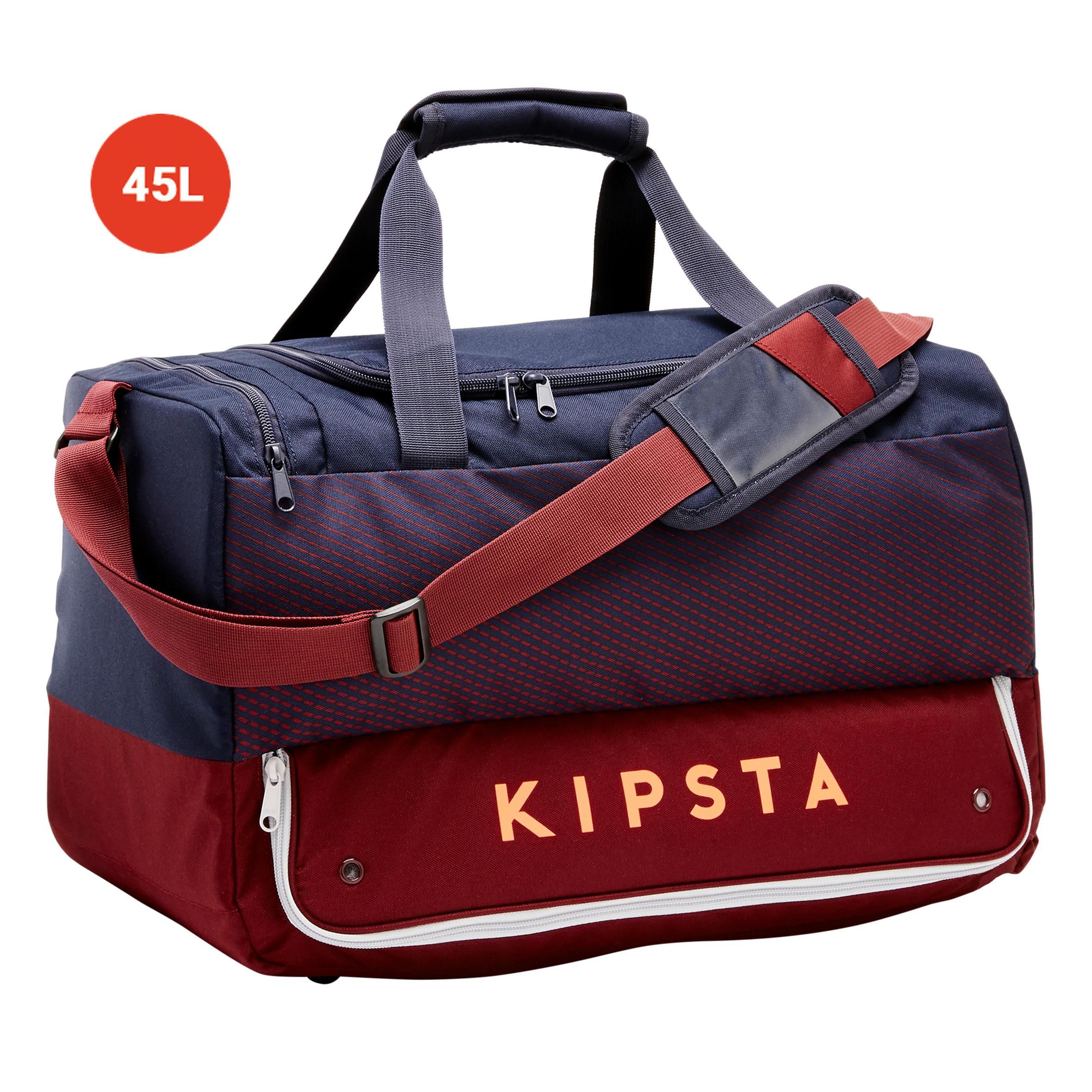 Kipsta Sporttas hardcase 45 liter blauw bordeaux