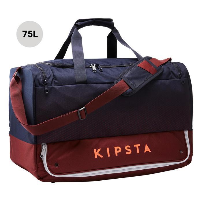 Bolsa Deportes Kipsta Hardcase 75L azul burdeos
