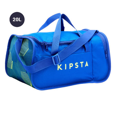 Maleta deportiva Kipocket 20 l azul y amarilla