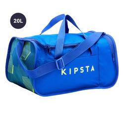 Bolsa de deporte Kipocket 20 litros azul y amarilla