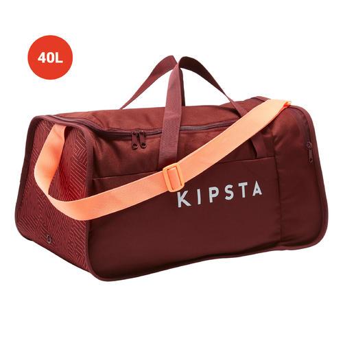 sac de sport 40 L kipocket rouge et corail