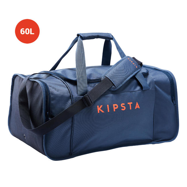 FOOTBALL duffle bag Kipocket 60 Litre - Blue/Orange