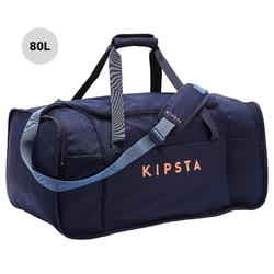 Voetbaltas / Sporttas Kipocket 80 liter blauw/oranje