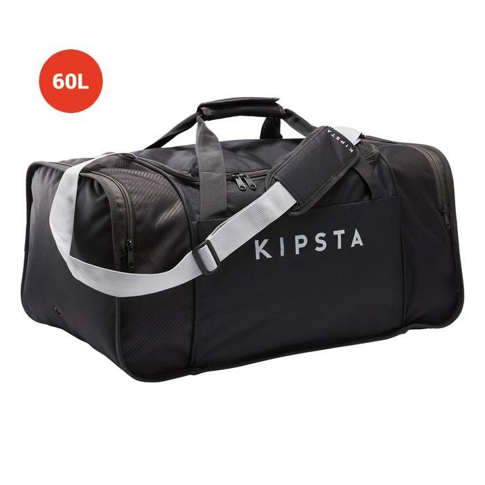 Sac de sport Kipocket 60 litres gris carbone