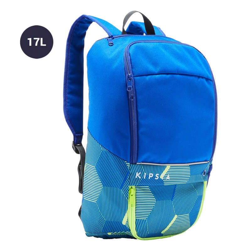 BAG TEAM SPORT Rugby - 17L Bag Essential Blue/Yellow KIPSTA - Rugby