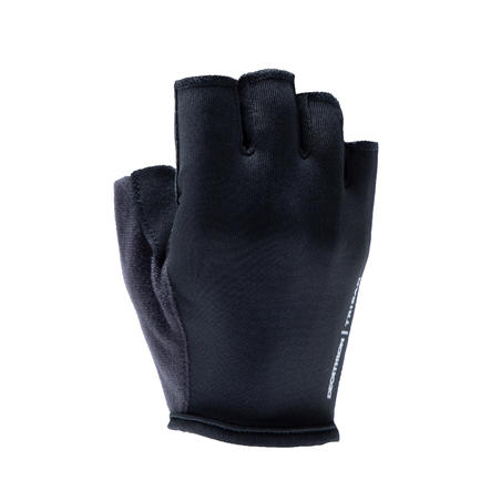 100 Road Cycling Touring Gloves - Hitam