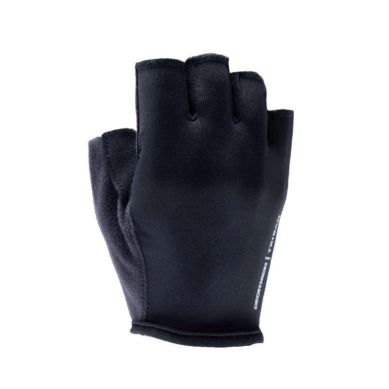 BIKE GLOVES WARM WEATHER Cycling - RC 100 Cycling Gloves - Black TRIBAN - Clothing