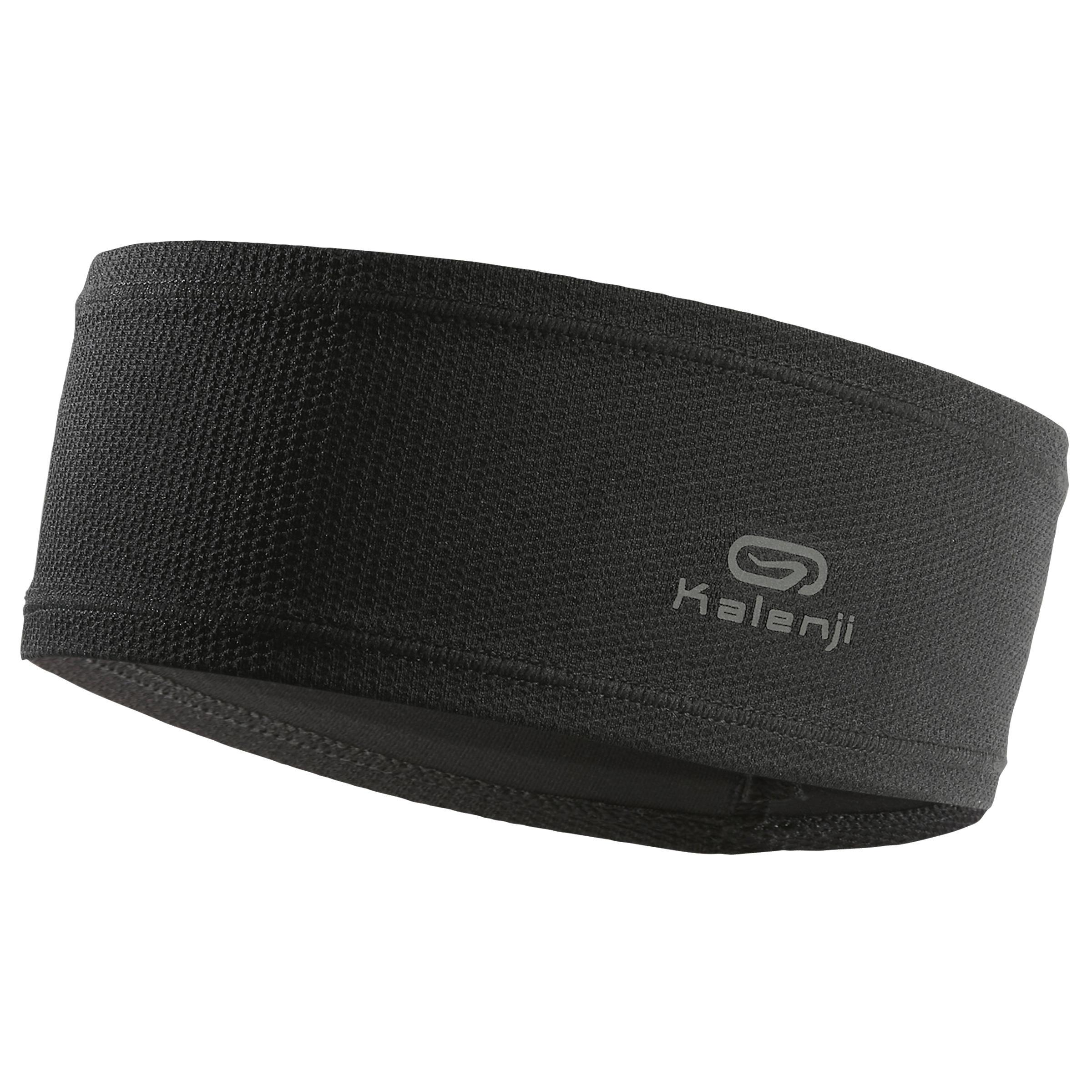 Lauf-Stirnband schwarz | Accessoires > Mützen > Stirnbänder | Schwarz | Kalenji