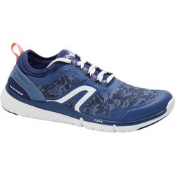 Zapatillas Caminar Newfell PW 580 Impermeables Mujer Azul