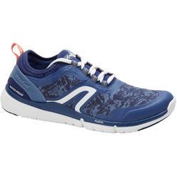 Zapatillas de marcha deportiva mujer PW580 RespiDry impermeables azul mar/rosa