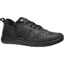 Zapatillas de marcha deportiva para mujer PW 580 RespiDry impermeables negro
