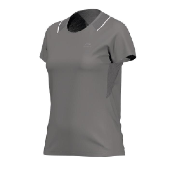 RUN DRY + WOMEN'S RUNNING T-SHIRT - ANTHRACITE GREY