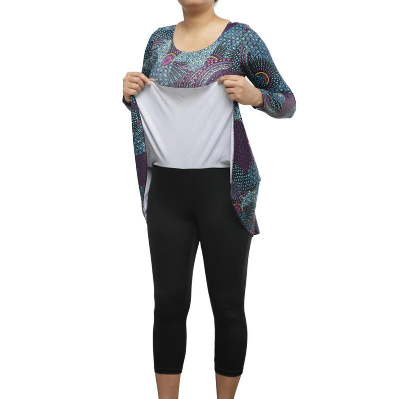 Audrey Women's One Piece Sleeve Leg Swimsuit - Mipy Black