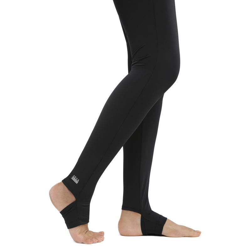 Una Women's Swimming Leggings - Black