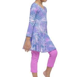 Girl Swimming Costume full sleeves with full leggings - Purple Pink