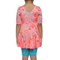 Audrey Girl's One-Piece Jammer Swimsuit - Eve Coral