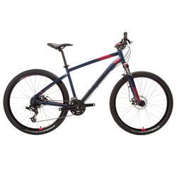 "MTB Rockrider ST 520 27.5"" SRAM X3 3x8-speed mountainbike DAMES BLAUW/ROZE"