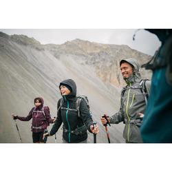 Veste pluie randonnée montagne MH500 imperméable homme Gris Kaki