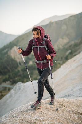 MH500 Women's Mountain Hiking waterproof Jacket - Plum