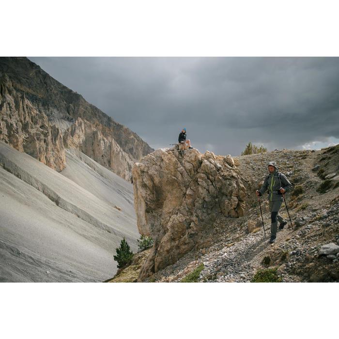 Jacke Bergwandern MH500 wasserdicht Herren grau/khaki
