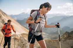 Short de senderismo en montaña para mujer MH500 Caqui