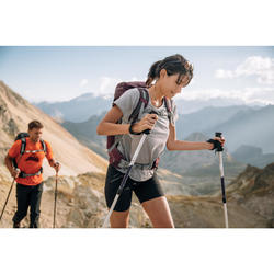 Wandershirt kurzarm Bergwandern MH500 Damen grau