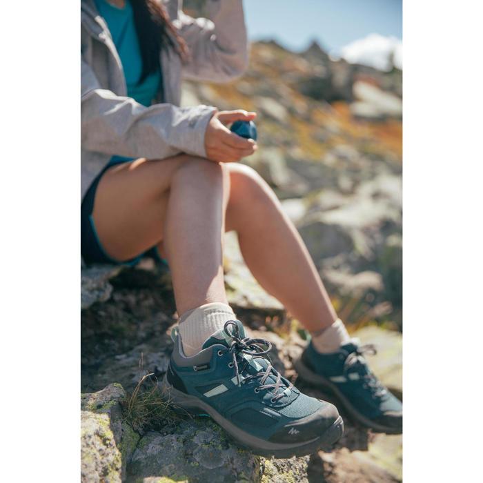 Wanderschuhe Bergwandern MH100 wasserdicht Damen korallenrot