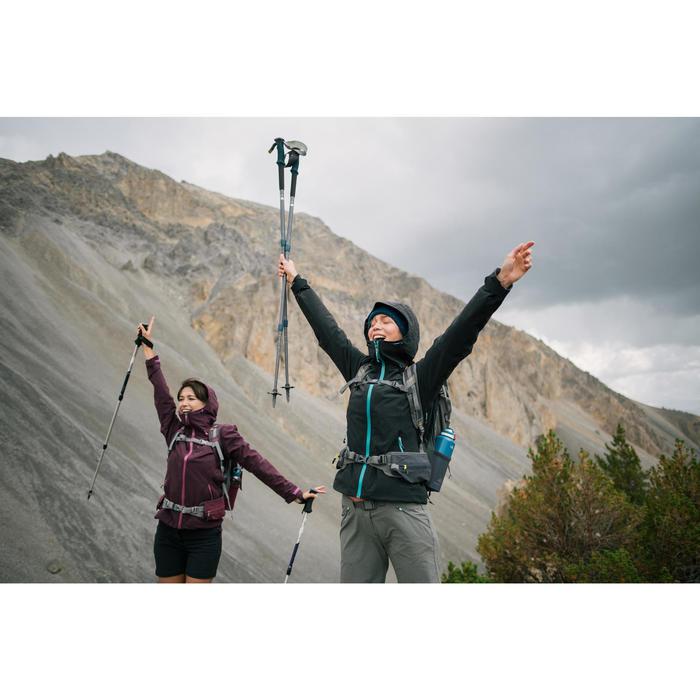 Wanderjacke Bergwandern MH500 wasserdicht Damen schwarz