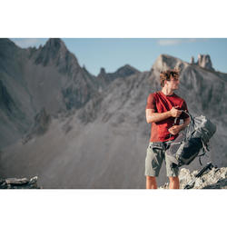 Wanderhose knielang Bergwandern MH500 lang khaki